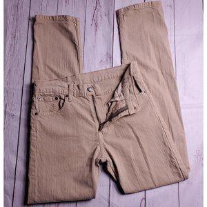 Levi's 513 womens Beige Highwaisted Jeans W 30
